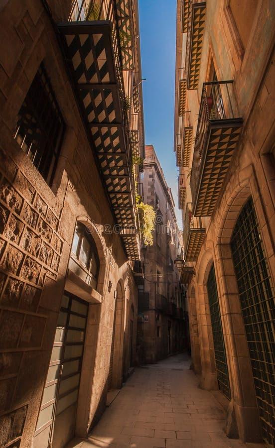 Vecchio quarto di Barcellona fotografie stock