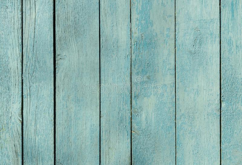 Vecchio recinto di legno della fitta blu fondo di legno della palizzata struttura delle plance, superficie stagionata fotografia stock
