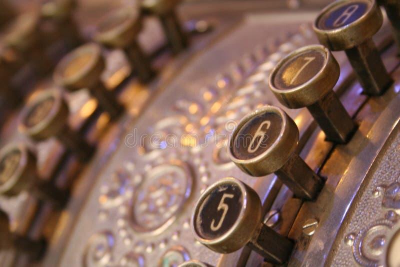 Vecchio registratore di cassa fotografia stock libera da diritti