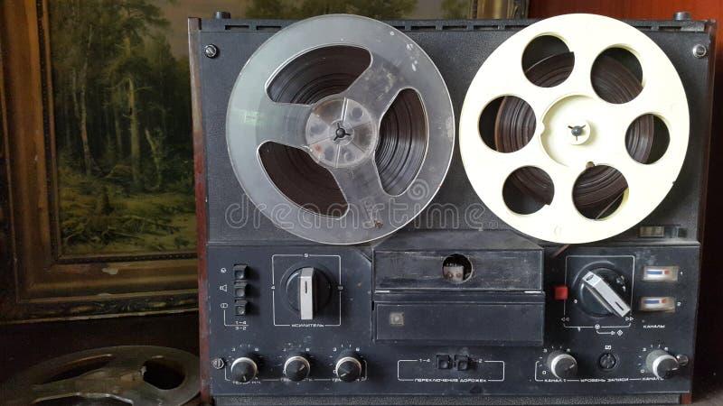 Vecchio registratore di nastro immagine stock