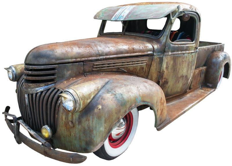 Vecchio retro camion d'annata isolato, Chevy, Chevrolet fotografie stock
