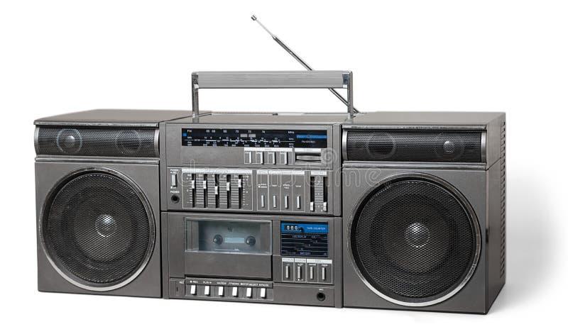 Vecchio retro registratore della cassetta dell'artificiere fotografia stock