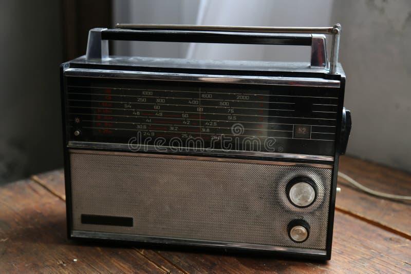 Vecchio retro stile radiofonico fotografia stock libera da diritti
