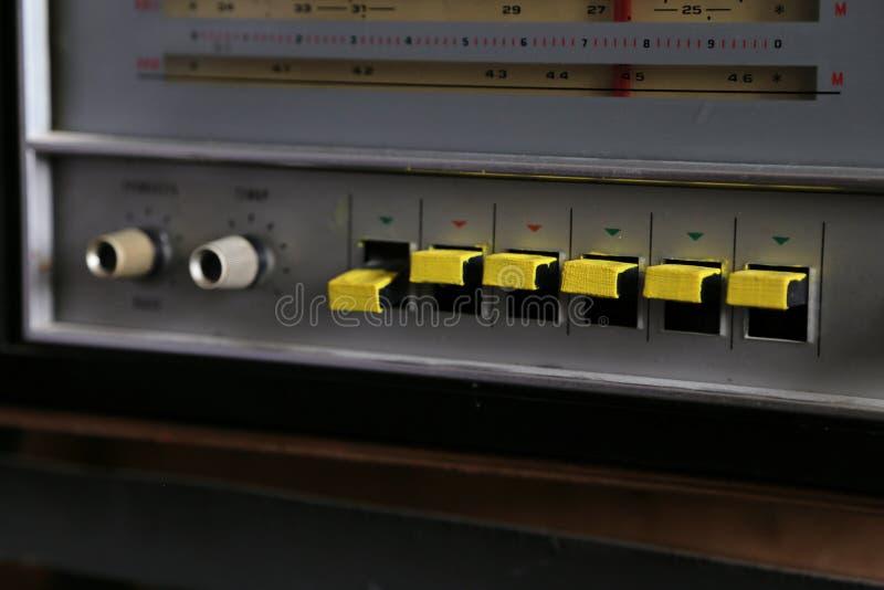 Vecchio retro stile radiofonico fotografie stock libere da diritti