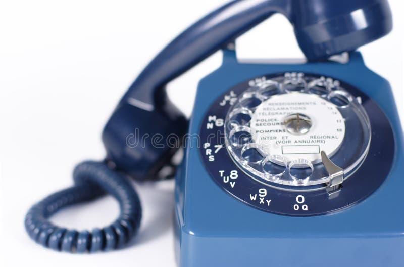 Vecchio retro telefono fotografie stock