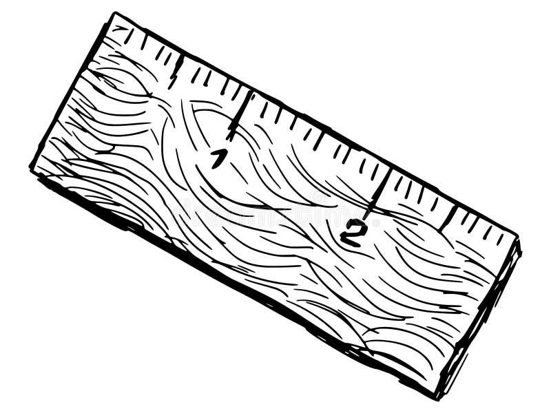 Vecchio righello illustrazione vettoriale