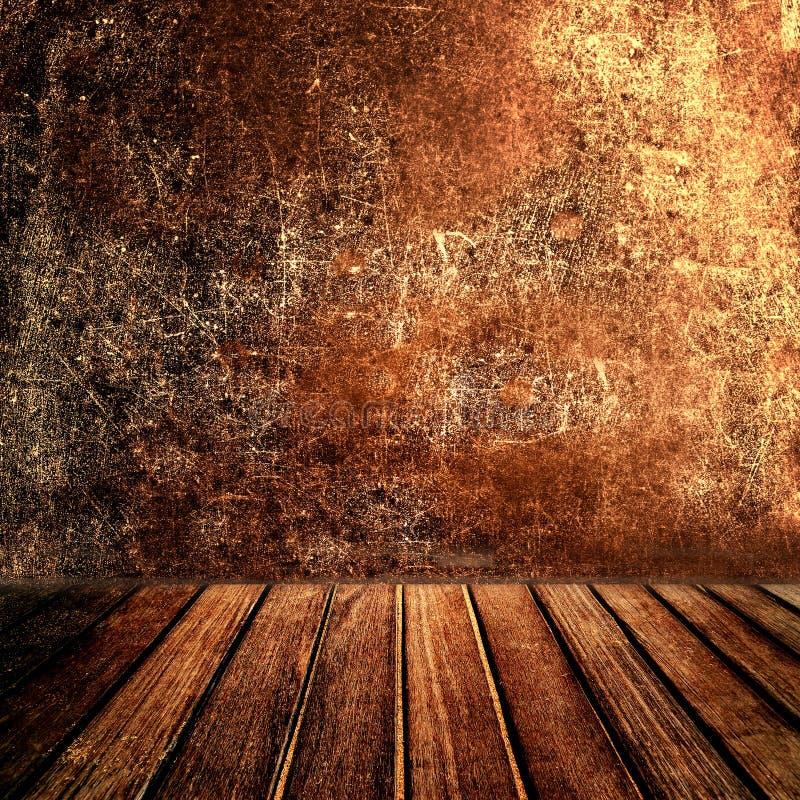 Vecchio ripiano del tavolo di legno marrone d'annata del pannello con marrone scuro astratto immagini stock