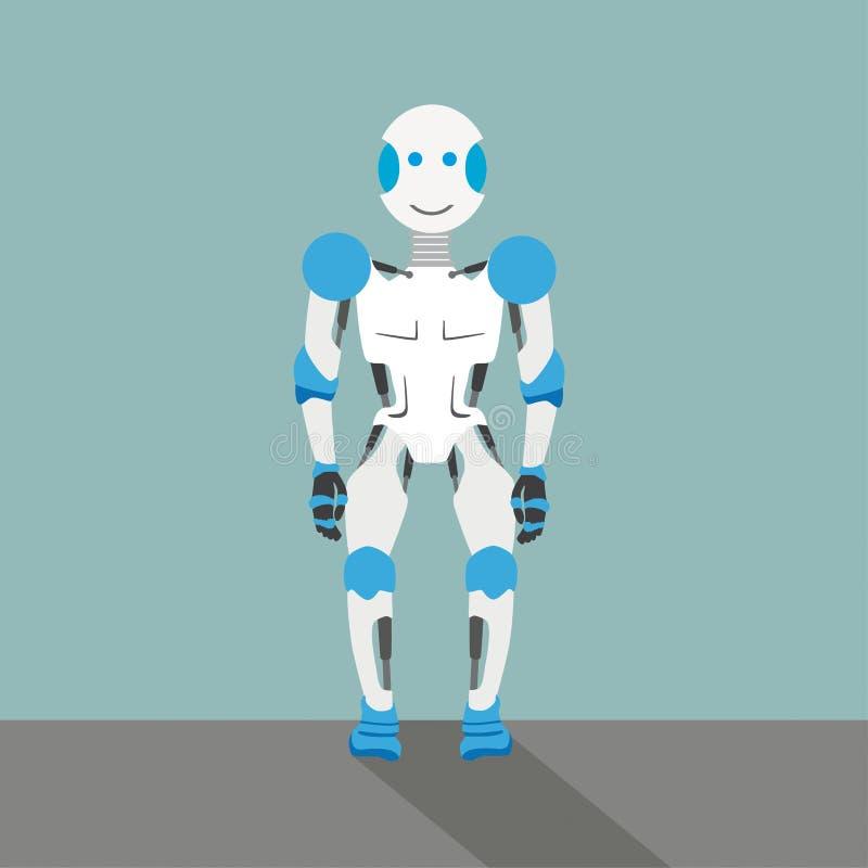 Vecchio robot illustrazione vettoriale