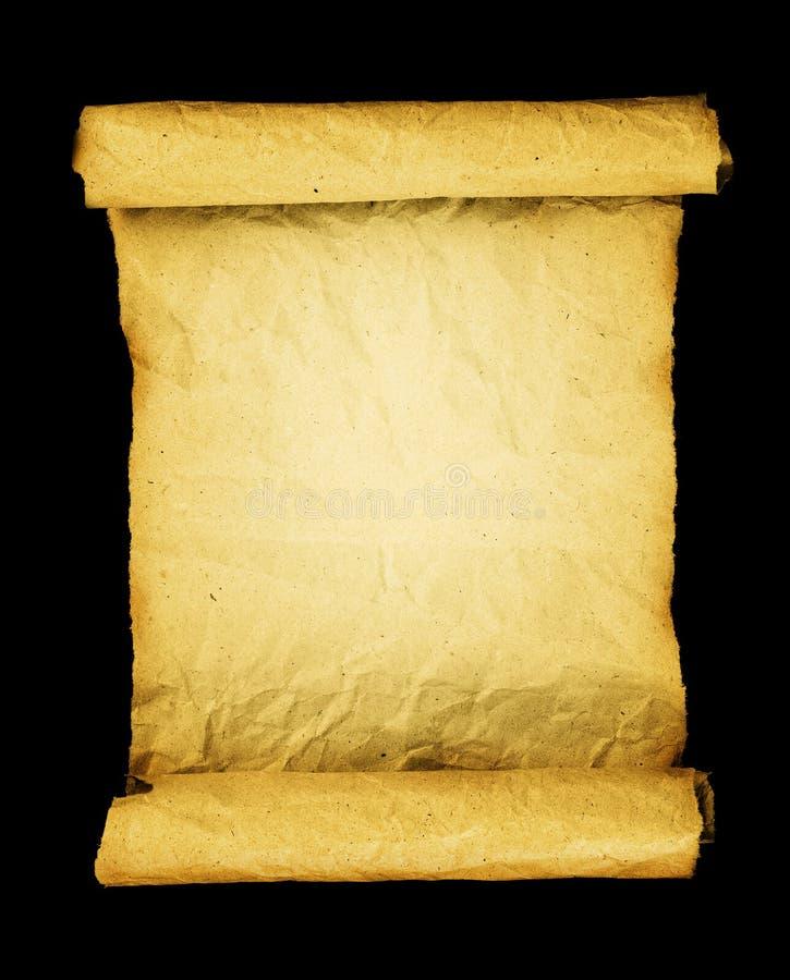 Vecchio rotolo del papiro. immagini stock libere da diritti