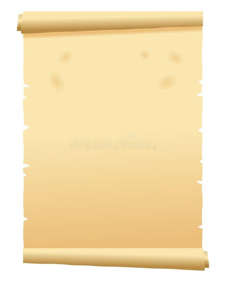 Vecchio rotolo della pergamena illustrazione di stock
