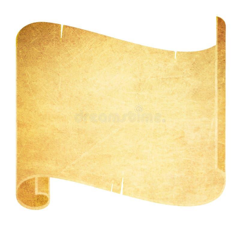 Vecchio rotolo della pergamena illustrazione vettoriale