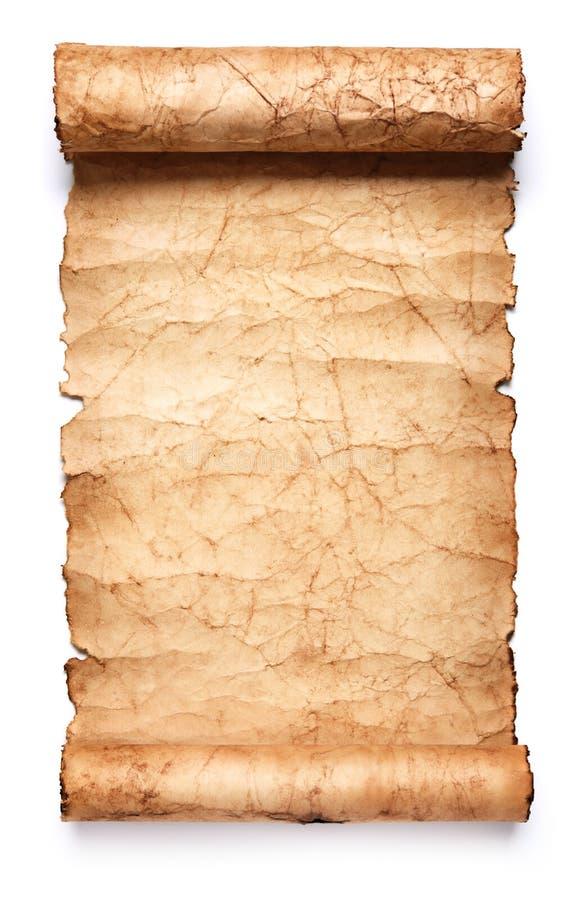 Vecchio rotolo di carta immagine stock libera da diritti