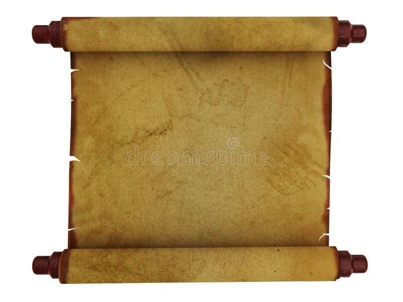 Download Vecchio rotolo di carta illustrazione di stock. Illustrazione di lettera - 7309865