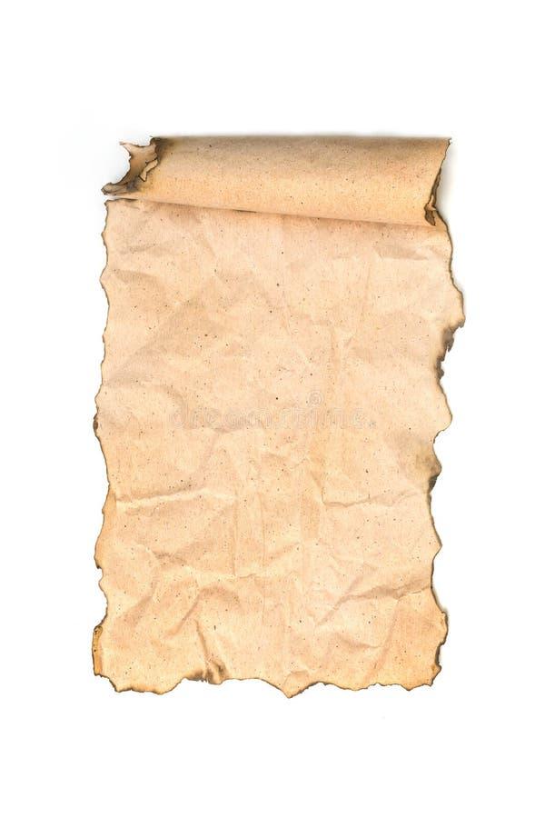 Vecchio rotolo di carta isolato immagine stock