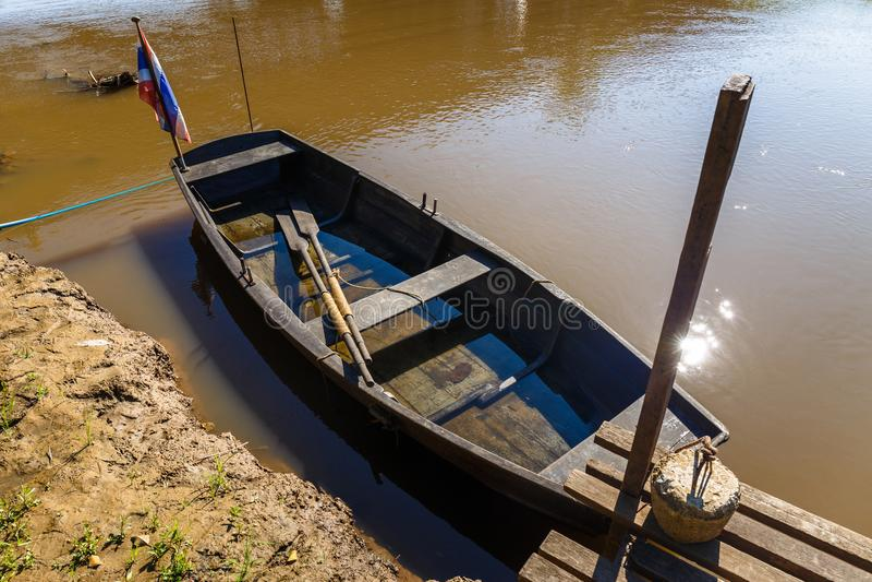 Vecchio rowboat di legno immagini stock libere da diritti