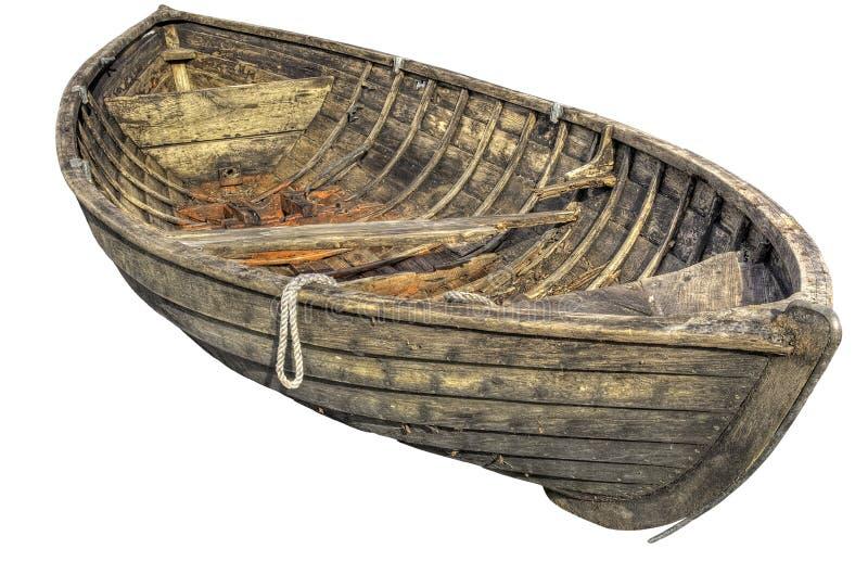 Vecchio rowboat tradizionale. fotografie stock