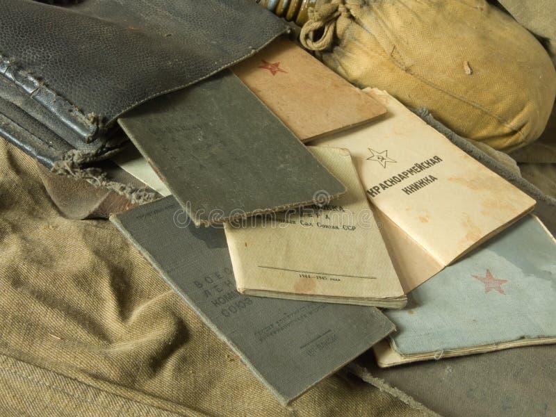 Vecchio sacchetto dell'esercito immagini stock