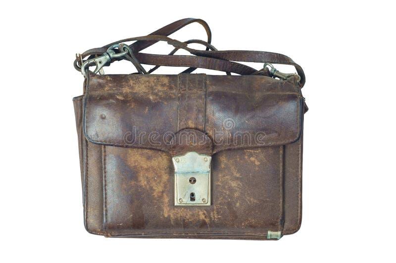 Vecchio sacchetto di cuoio fotografie stock