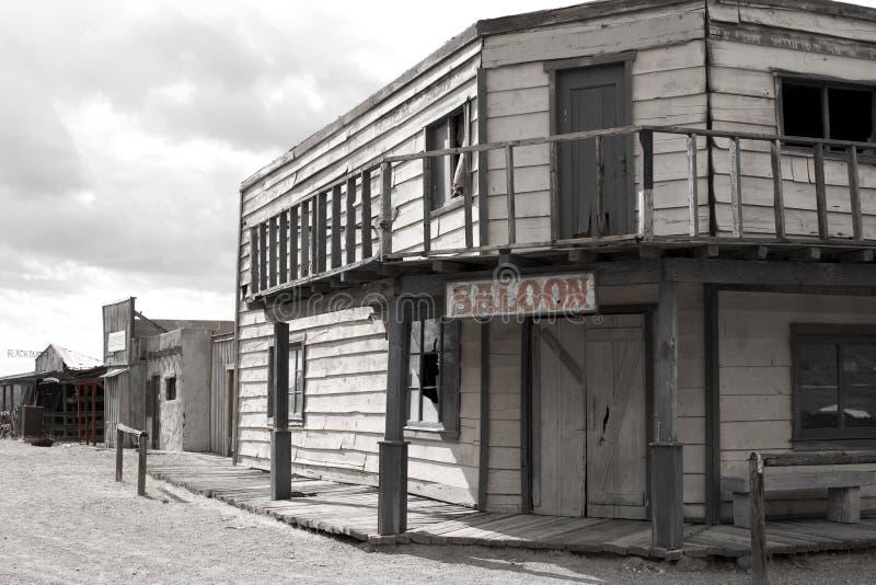 Vecchio salone ad ovest selvaggio S.U.A. della città del cowboy fotografie stock libere da diritti