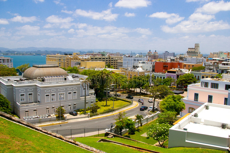 Vecchio San Juan fotografia stock
