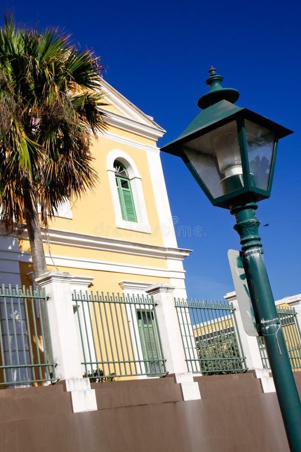 Vecchio San Juan - architettura coloniale storica immagine stock libera da diritti