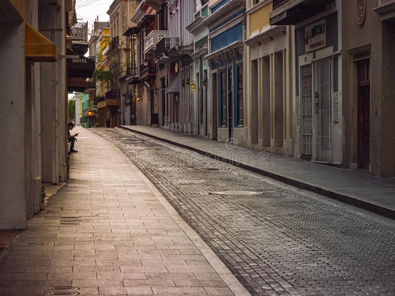 Vecchio San Juan Porto Rico fotografie stock libere da diritti
