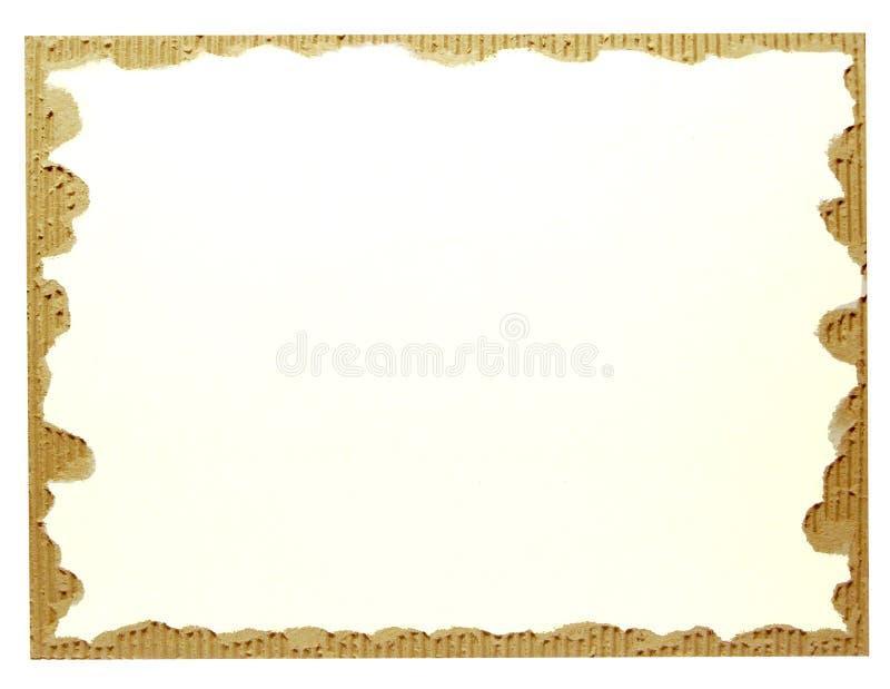 Vecchio scarto del cartone su bianco fotografie stock libere da diritti
