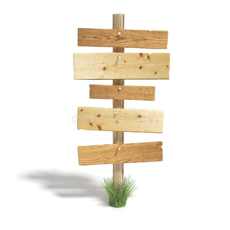 Vecchio segnale stradale di legno fotografia stock