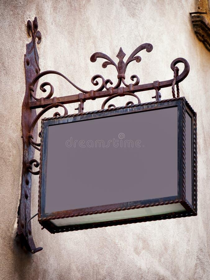 Vecchio segno della memoria fotografia stock libera da diritti
