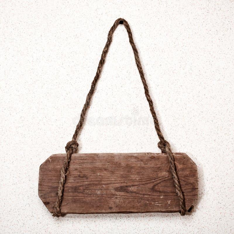 Vecchio segno di legno fotografia stock libera da diritti