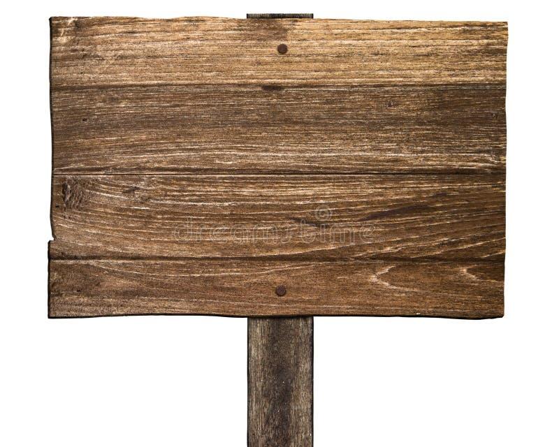 Vecchio segno di legno fotografie stock libere da diritti