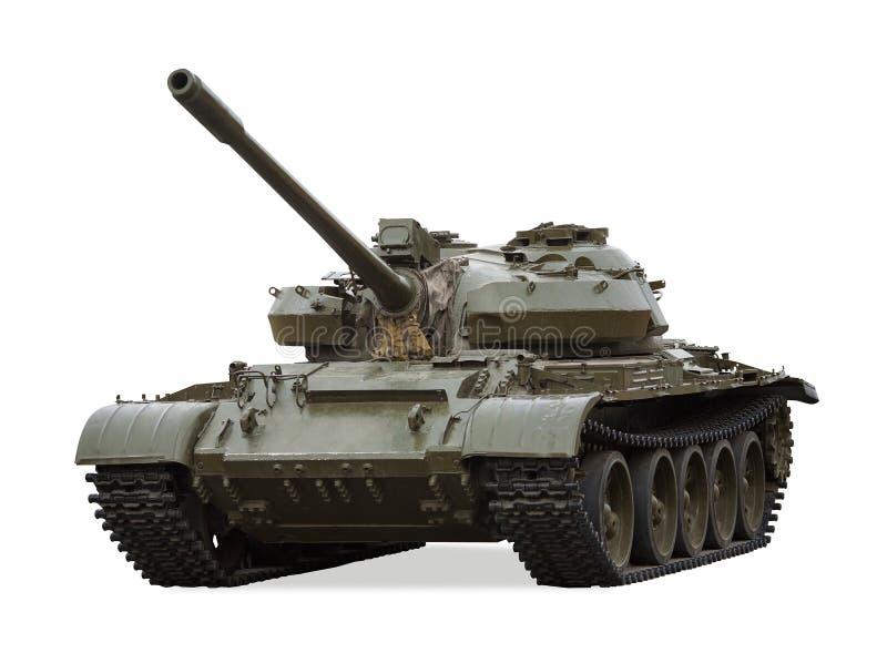 Vecchio serbatoio di battaglia principale T-55, Russia immagini stock libere da diritti