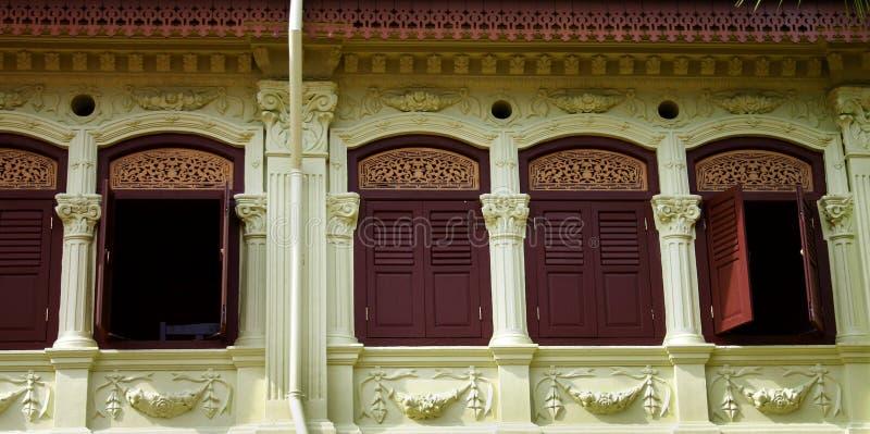 Vecchio Shophouse rustico fotografie stock libere da diritti