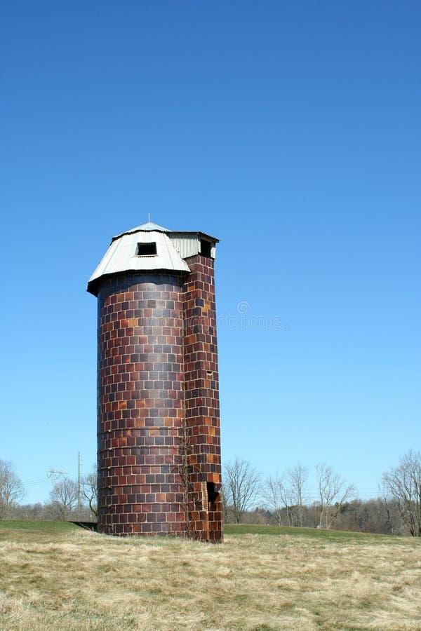 Vecchio silo immagine stock