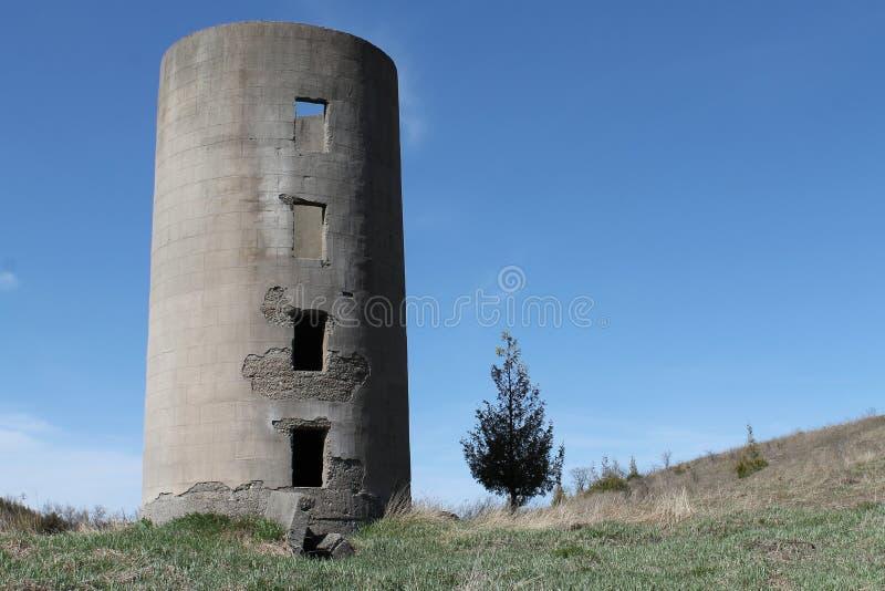 Vecchio silo fotografie stock libere da diritti