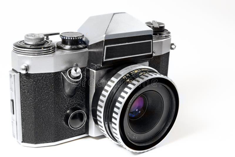 Vecchio SLR meccanico fotografie stock libere da diritti