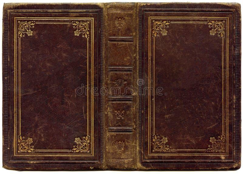 Vecchio songbook di cuoio 1890 fotografie stock
