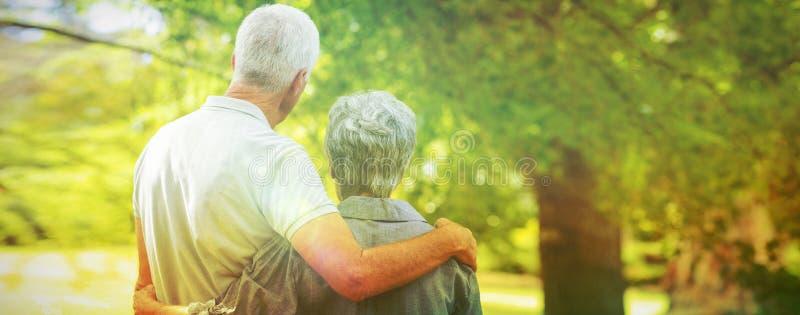 Vecchio sorridere felice delle coppie immagine stock