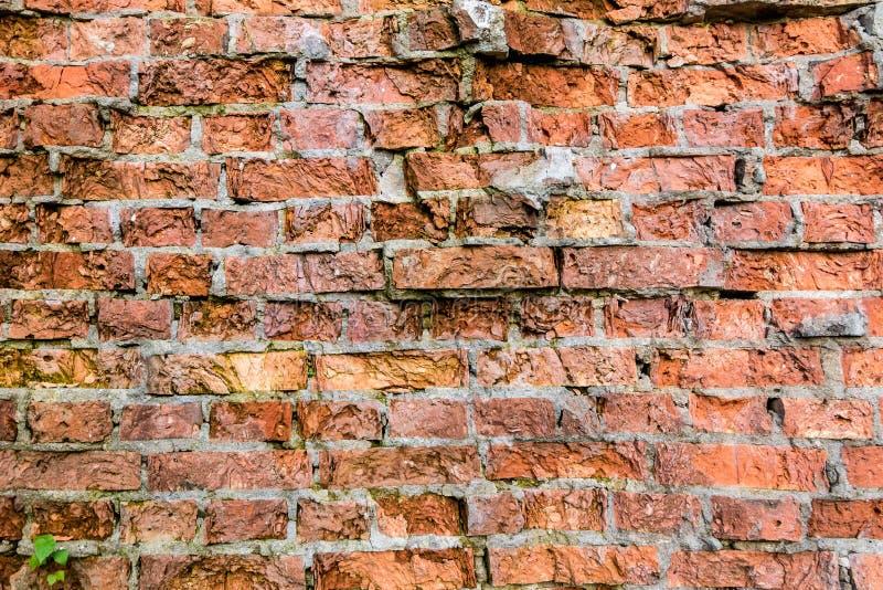 Vecchio sottotetto rotto leggero di struttura della decorazione del modello della parete di mattoni interno o esteriore fotografia stock libera da diritti