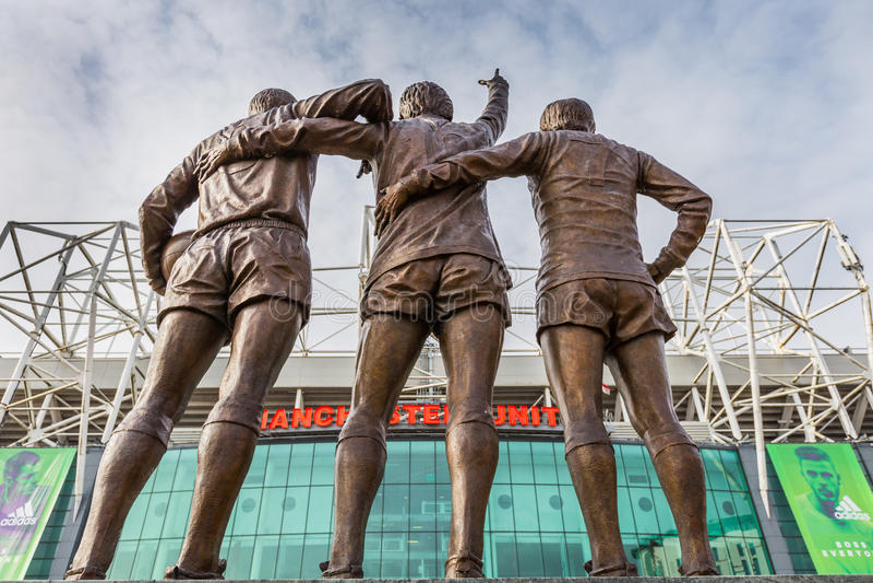 Vecchio stadio di football americano di Trafford fotografie stock