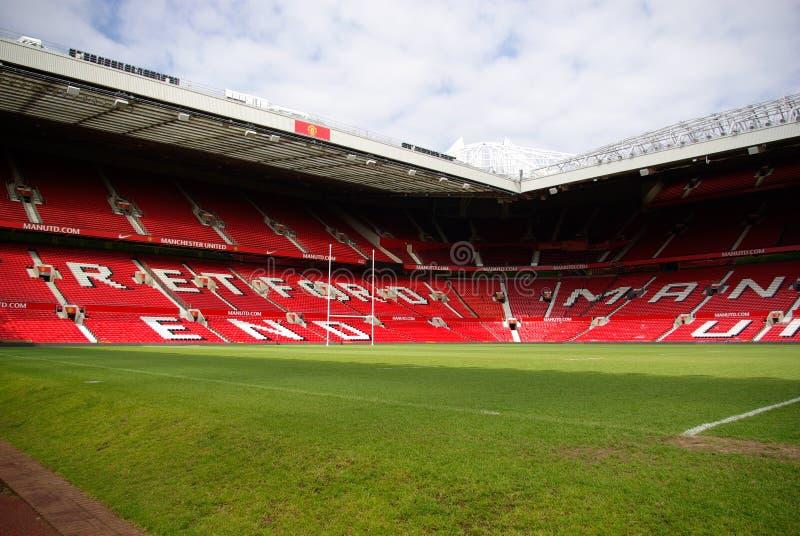 Vecchio stadio di Trafford fotografia stock