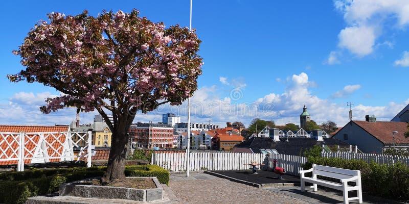 Vecchio Stavanger preso il 6 maggio 2019 fotografia stock