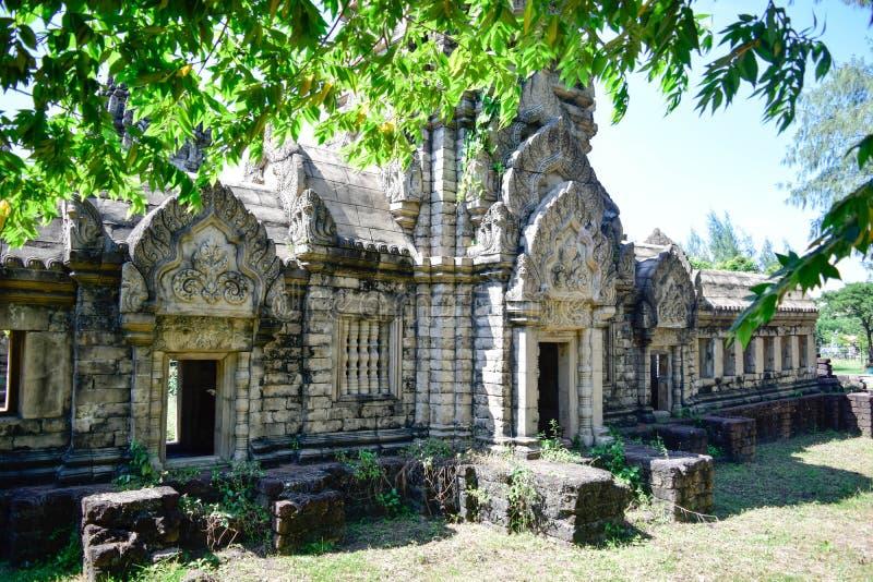 Vecchio stile della Cambogia del castello fotografia stock libera da diritti