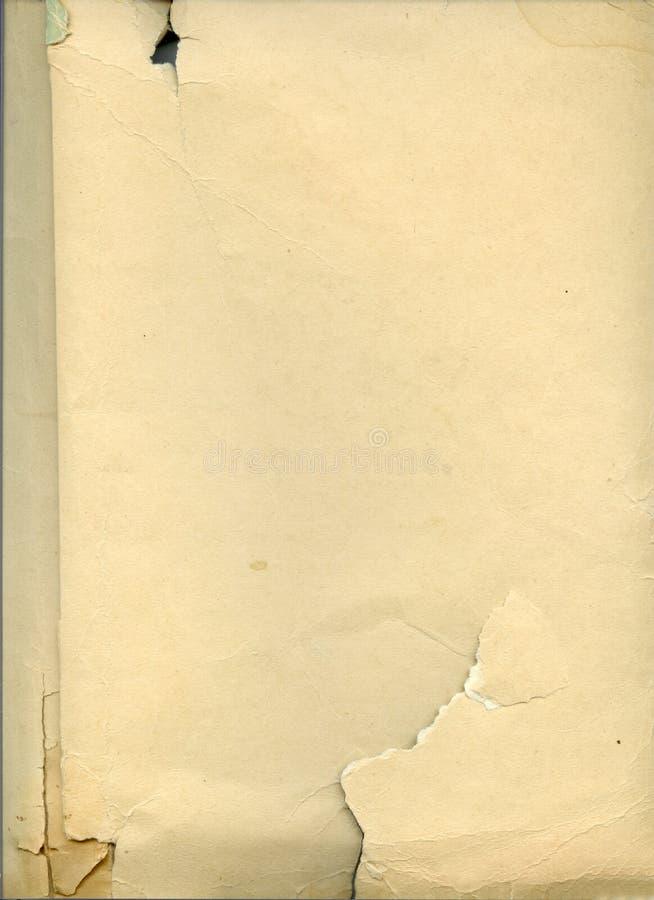 Vecchio strato di carta immagini stock