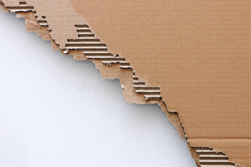Vecchio strato strutturato del cartone fotografia stock