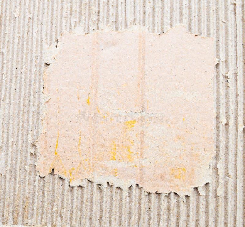 Vecchio strato strutturato del cartone immagini stock