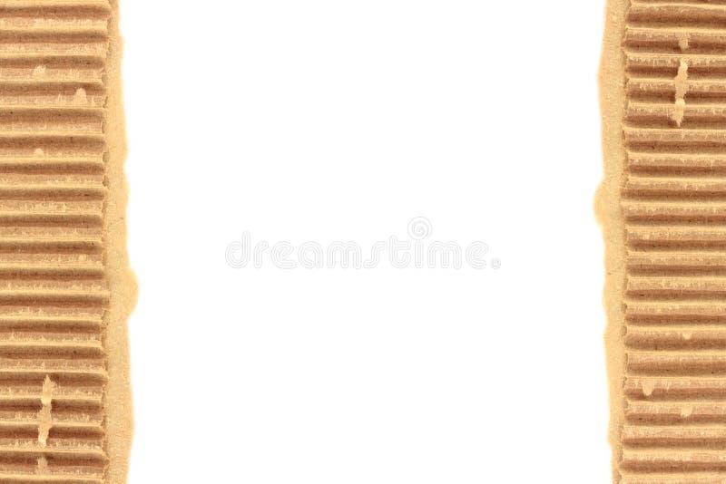 Vecchio strato strutturato lacerato del cartone immagine stock libera da diritti