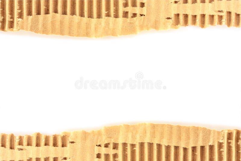 Vecchio strato strutturato lacerato del cartone fotografia stock libera da diritti