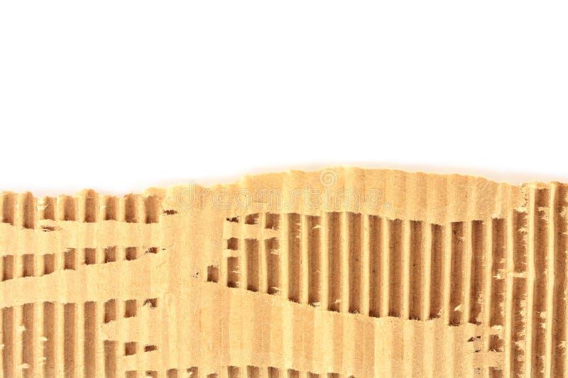 Vecchio strato strutturato lacerato del cartone fotografia stock