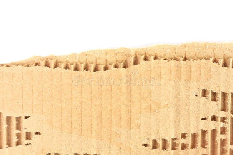Vecchio strato strutturato lacerato del cartone fotografie stock